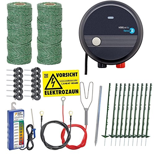 *Elektrozaun Komplettset 230V / grün / mit Netzgerät von VOSS.farming Elektrozaun Weidezaun Stromzaun*