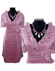 adonia mode Sommerkleid Wickel-Optik Chiffon-Kleid , Gr. 42 - 56