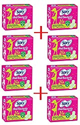 Sofy Antibecteria Extra Long Pads - 8 Packs of 7 Piece in Each Pack (COUNT 56)