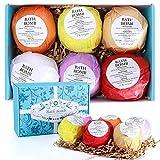 Set de regalo Bath Bombs 6 Fizzies, hidrata la piel seca, perfecto para Bubble Spa Bath, regalo de cumpleaños natural hecho a mano Idea para el día de la madre, ella, esposa, novia, mamá, mujer, niña
