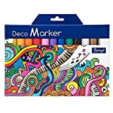 #3: Bianyo Acrylic Paint Deco Marker Pens Fine Tip Art Liquid Highlighters Set of 12 Colours