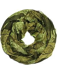 Kandharis Schal Rundschal Halstuch Schlauchschal für Damen mit Blumen Blumen-Muster Loop Mehrfarbig Viskose LSG13