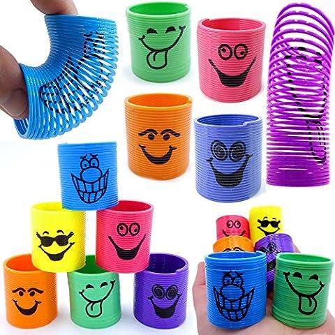 German Trendseller® - 6 x drôles spirales┃petits garnements┃ressort magique┃ happy