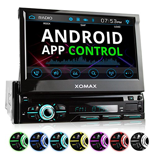 XOMAX XM-DTSB928 Autoradio mit 18cm I 7 Zoll HD Touchscreen Bildschirm, Bluetooth Freisprecheinrichtung, DVD CD Player, USB, SD, MP3, RDS, Aux, 1DIN, abnehmbares - Autoradio Dvd Mit Touchscreen