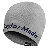 2015 TaylorMade Reversible Thermal Golf Beanie Double Knitted Mens Hat Grey