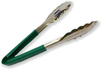 Arpita Gifts Utility Tong with Vinyl Coating (9 IN, 95 Gms) (Green Color)