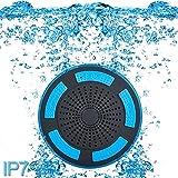 Altoparlante Bluetooth 4.0 Speaker da Doccia con Handsfree Microfono Incorporato Radio FM, IP67 completamente impermeabile radio da doccia con luci LED, USB per Spiaggia/Bagno/Casa/Esterno(support iPhone, Samsung, Huawei ,Sony ,HTC, LG ,Xperia, Moto X, Nokia, Xiaomi ecc & PC Tablet Portatile)B013 (Blu)