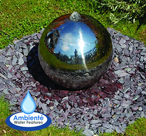 Esfera de Acero Inoxidable Pulido con Luces LED - 50cm 4