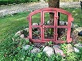 Antikas | Eisenfenster zum Öffnen | ca. 48 x 42 cm | Leichter Stichbogen | Stallfenster
