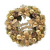 Sue Supply Weihnachtskranz Goldene Dekoration Hängende Anhänger Kranz Türkranz Weihnachtstürkranz für Restaurant Fenster Tür Hochzeit Dekorationen Szene Layout