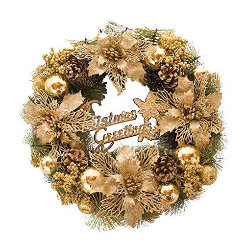 Sue Supply Weihnachtskranz Goldene Dekoration Hängende