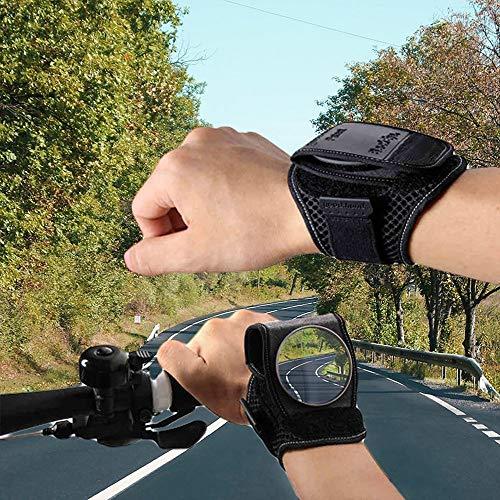 Huacaili Leichte tragbare Weitwinkel-Fahrradspiegel, drehbarer & zusammenklappbarer Spiegel Fahrrad-Backeye für Mountain Road Bike Riding (Schwarz) zum Radfahren (Color : Schwarz) -