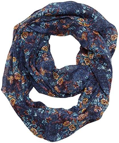s.Oliver Damen Schal im Loopstyle, Gr. One size, Mehrfarbig (blue AOP 54A1)