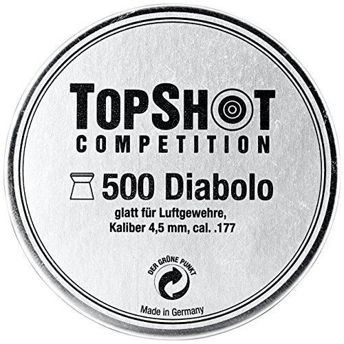 TopShot H&N Sport Diabolo Luftgewehr Luftpistole co2 Munition Kaliber 4,50 mm Jagd Training Wettkampf glatt – 500 Stück