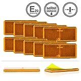 LED-MARTIN® 10er Sparset - Rückstrahler - Reflektor R7 - gelb/orange - selbstklebend - zugelassen...