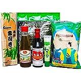 Sushi Starter Set 6 teilig + GRATIS Reislöffel - Pamai Pai® - Wasabi Nori Sushimatte Sojasoße
