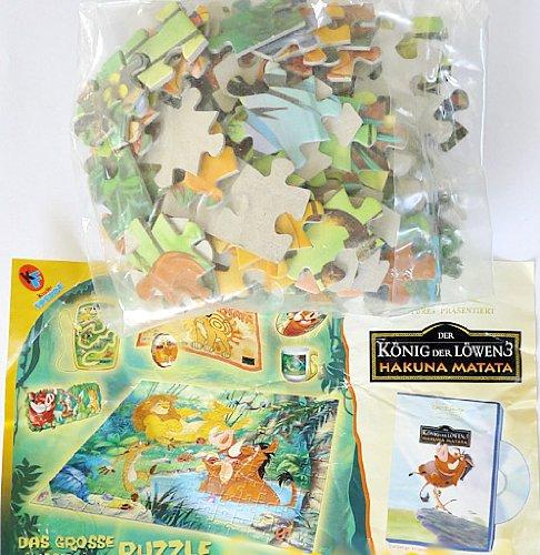 Preisvergleich Produktbild Kinder Überraschung Maxi Ei Puzzle von König der Löwen mit Beipackzettel