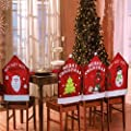 Set Of 4 Mixed Assorted Christmas Theme Chair Hat Back Covers Xmas Party Dinner Dining Table Festive Decoration Gift - low-cost UK light shop.