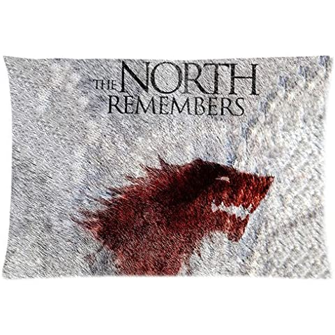 Game of Thrones Wolf Monster Logo Custom Design Pillowcase Pillow Sham Queen Size Pillow Cushion Case Cover Two Sides Printed 20x30 Inches