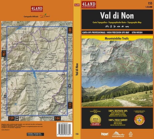 Val di Non. Carta topografica. Ediz. italiana, inglese e tedesca par Enrico Casolari