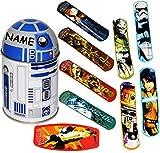 alles-meine.de GmbH Pflasterset -  Star Wars / R2 D2  - 38 Stück wasserfeste Pflaster - in Metall Box - Pflasterbox Dose bunt Kinderpflaster - Darth Vader / Stormtrooper - Yoda..