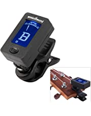 amiciSound Digital LCD Display Automatic Clip-on Tuner for Chromatic Guitar Bass, Violin, Ukulele (Black)