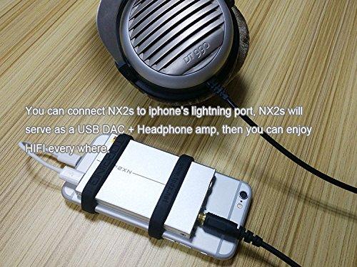 TOPPING NX2s Amplificatore per cuffie DAC per amplificatore per cuffie portatili digitali (nero) + WINGONEER LED luce