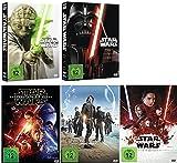 Star Wars komplett / 9 Teile (1+2+3+4+5+6+Das Erwachen der Macht+Rogue One+Die letzten Jedi) [DVD Set]