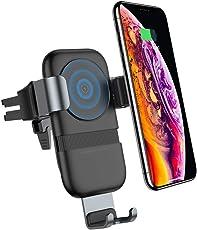 andobil Handy Halterung fürs Auto, Qi Auto drahtloses Ladegerät sowie Auto handyhalter 10W induktiv schnelles Ladestation für iPhone XS / XR / X, iPhone 8 / 8 plus, Samsung Galaxy S9 / S9 plus / S8 / S8 plus und andere Qi befähigte Geräte