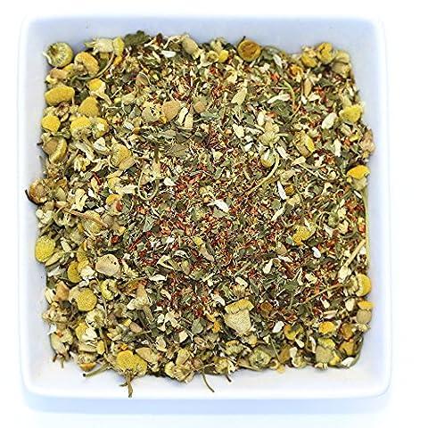Lovely Night - Chamomile Rooibos Mint - Calming & Relax Tea- Herbal Loose Leaf Tea - Caffeine Free - Tealyra (110g / 4oz)