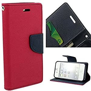 Americhome Artificial Leather With Soft Silicon Inside Flip Cover For Sony Xperia Zr Pink