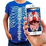 Virtuali-tee - Camiseta educativa de Realidad Aumentada para niños: Talla L, Azul