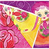Papierservietten - Servietten - Matroschka - Matrjoschka - 20 Stück Partyservietten aus Papier mit russischen Motiven