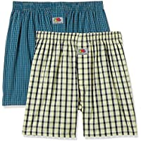 Fruit of the Loom Men's Checkered Cotton Boxers (Pack of 2)(MBS01-2P-A1C1-BI/MB-M)