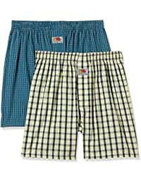 Fruit of the Loom Men's Checkered Cotton Boxers (Pack of 2)