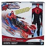 Hasbro Marvel - Action Figura Spider-Man da 30 cm con Veicolo