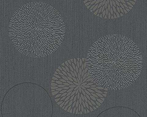 A.S. Création Vliestapete Spot Tapete natürlich 10,05 m x 0,53 m grau schwarz Made in Germany 937911 93791-1