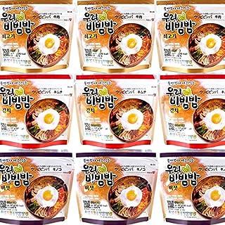 Chang-Mi Prêt à manger un bol de riz mélangé coréen - nourriture de riz instantané - paquet de total de 9 (chaque paquet de de 3)