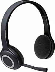 Logitech H600 Wireless Headset, Stereo Headphones with Rotating Noise-Cancelling Microphone, USB Nano-Receiver, Foldable, Lo