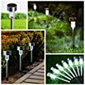 Solar Garden Lights Outdoor Wloomm Waterproof Solar Powered Patio Pathway Light Landscape Light for Lawn/Patio/Yard/Walkway/Driveway 12 Pack