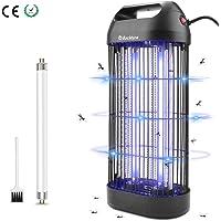 BACKTURE Lampe Anti Moustique, 18W UV LED Tue Mouches Efficace 80m² Piege Insectes Electrique Interieur, Destructeur d' Insectes Electrique avec Tube UV de Rechange et Brosse de Nettoyage