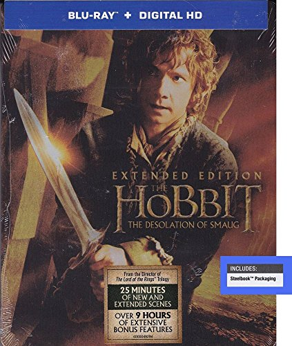 Hobbit: The Desolation of Smaug, Extended Edition, Steelbook [Blu-ray]
