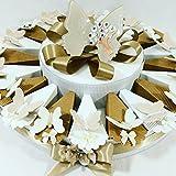 Idee Torte Gastgeschenk für Hochzeit Jahrestag Konfirmation Schmetterling Gai Mattiolo Keramik Glanz Baum des Lebens Torta Da 20 Fette + Centrale