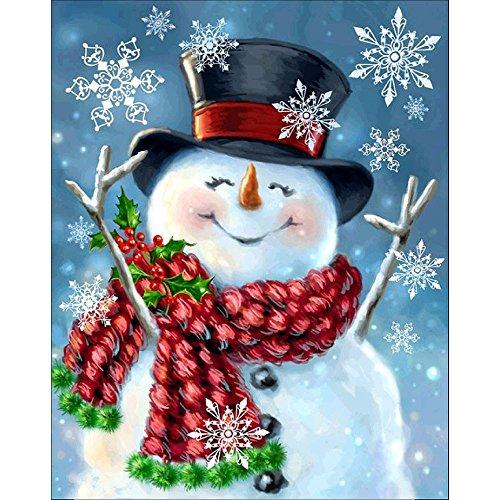 ODJOY-FAN Weihnachtsmann Diamantzeichnung Weihnachten Punktbohrer Gemälde Diamant Strass Eingefügt Stickerei Malerei Kreuz Stich Zuhause Dekor 30cmx40cm(A,24 * 30cm) -