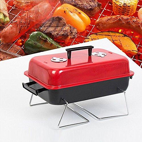 LaDicha Portable BBQ Grill Klein Rack Kochen Herd Picknick Rostfreier Stahl Kohle Fleisch Kochen Maschine