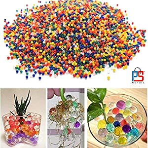 P S Retail Crystal Soil Water Beads (Multicolour) – Pack of 10000 Pieces (Approximately)