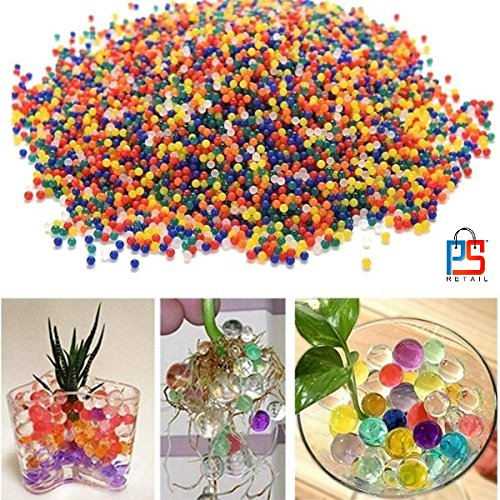 Asian Hobby Crafts Crystal Soil Water Beads (Multicolour) - Pack of 10000 Pieces