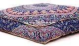Große Indian Meditation Boden Kissenbezug 88,9x 88,9cm Zoll Elefanten Mandala Ottoman Kissen Hundebett Outdoor Sofa Tag Bett Kinder Teen Boden Kissen