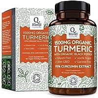 Curcumina Turmeric 95% e Piperina   Estratto Di Curcuma 1500mg Massima Potenza E Bioperina Di Pepe Nero   90 Capsule   Prodotto nel Regno Unito da Nutravita