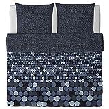 IKEA SMÖRBOLL grau Bettwäscheset 3 teilig 240x220cm und 2x 80x80cm Kopfkissen Bettbezug 100% Baumwolle